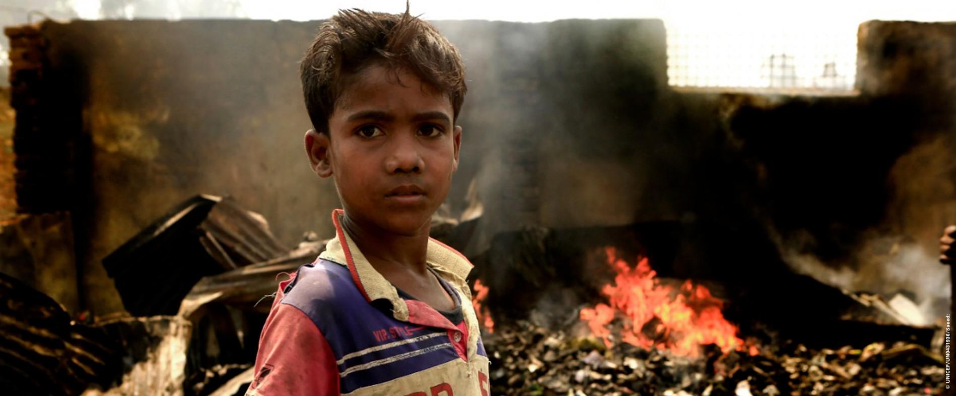 Pomóż dzieciom po tragicznym pożarze w obozie dla uchodźców Rohingja