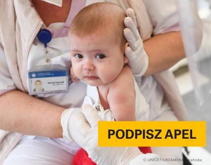 UNICEF Polska - W Polsce drastycznie spada liczba szczepień