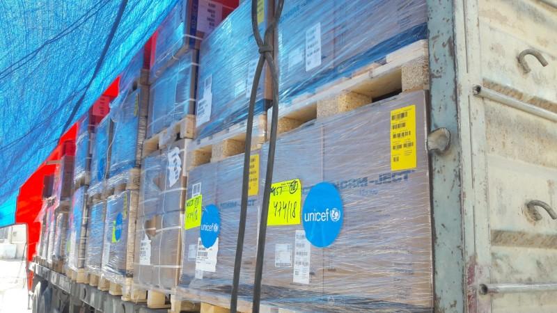 Transport pomocy medycznej UNICEF do Gazy
