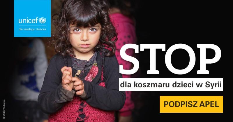 STOP dla koszmaru dzieci w Syrii!