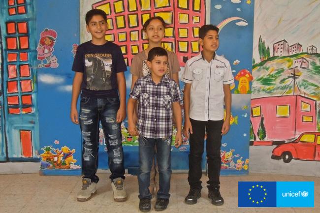 Kampania Głos Dzieci, Abdul-Rahman  razem z rodzeństwem w Miejscu Przyjaznym Dzieciom