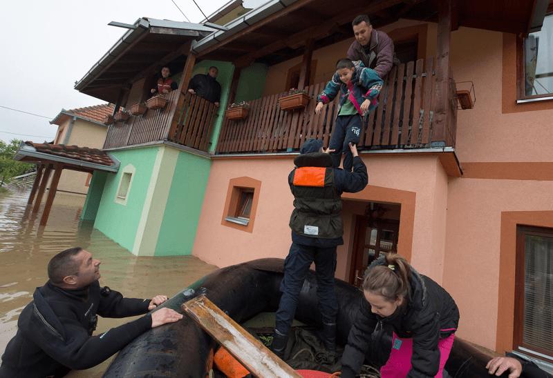 Katastrofalne powodzie w Serbii