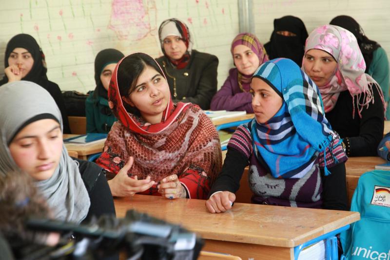 Malala w styczniu tego roku odwiedziła obóz dla syryjskich uchodźców w Jordanii