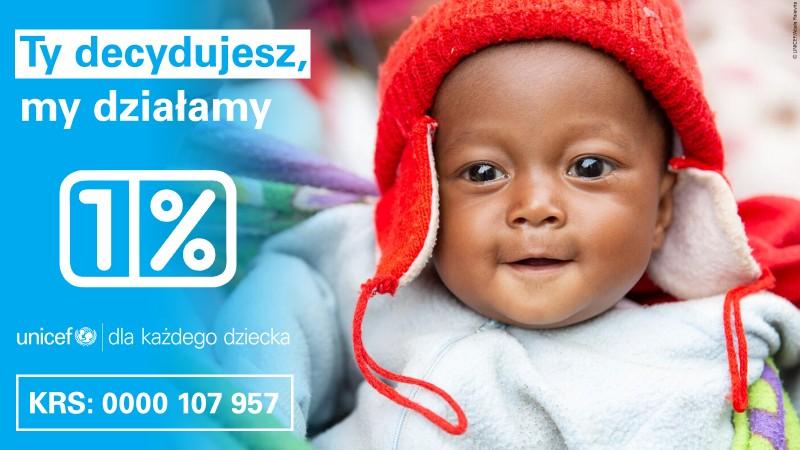 Przekaż Twój 1 procent na UNICEF