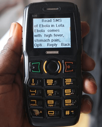 SMS z informacją o Eboli