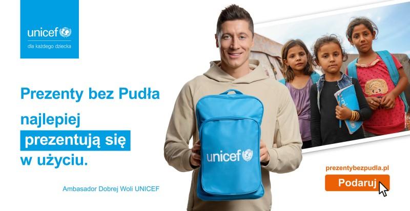 Robert Lewandowski, wspiera program UNICEF Polska