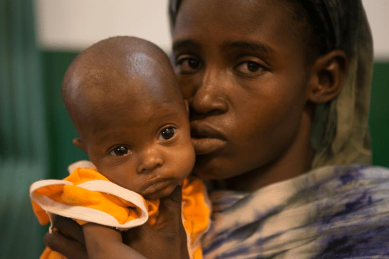 Portret mamy i dziecka Mali