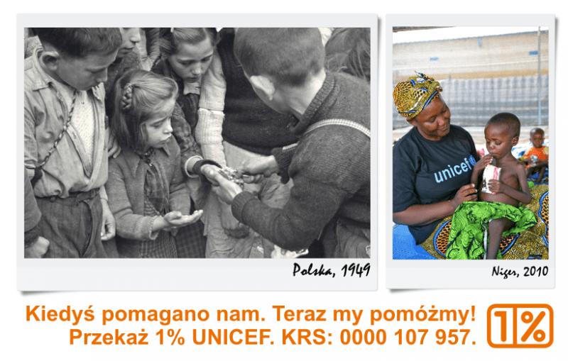 Przekaż 1% UNICEF
