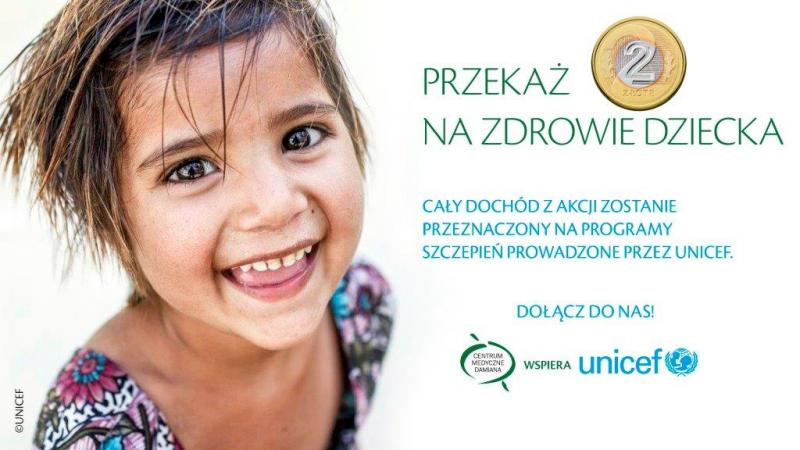 Unicef i Centrum Medyczne Damiana