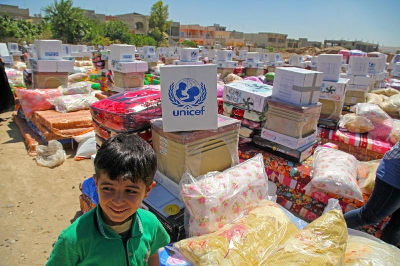 Pomoc humanitarna dla dzieci w Sindżar