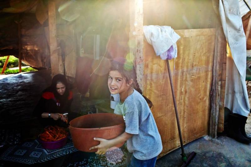 Jedno z miliona syryjskich dzieci-uchodźców