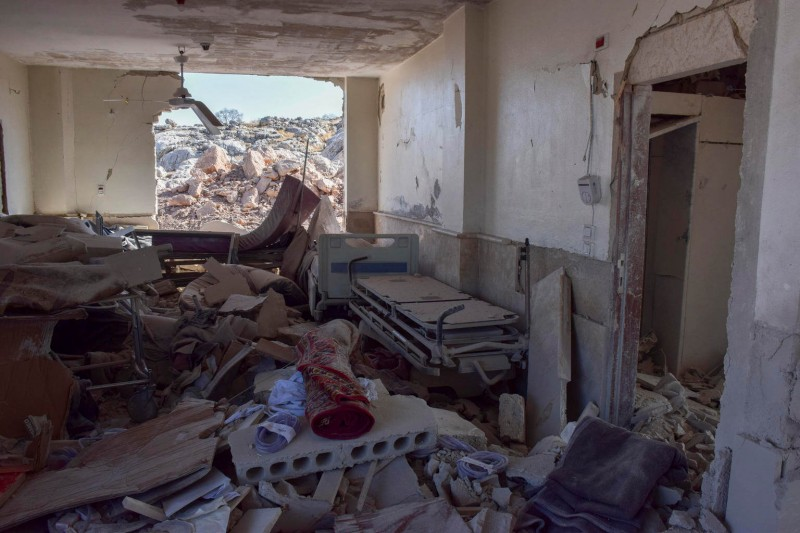 Zniszczone szpitale w Syrii