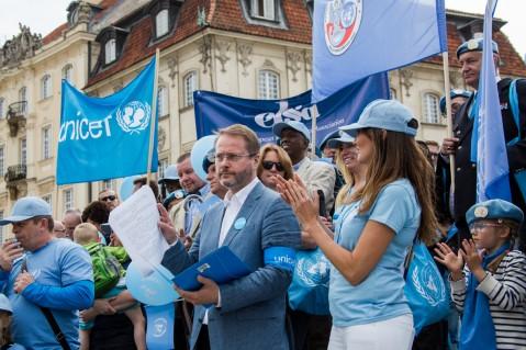 Artur Żmijewski - Ambasador Dobrej Woli UNICEF na Błękitnym Marszu Pokoju ONZ