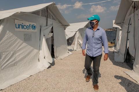 UNICEF - Pożar w obozie Moria
