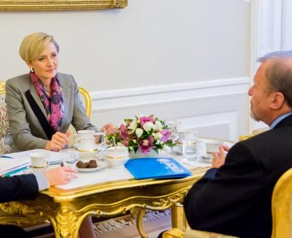 Spotkanie Pierwszej Damy z Markiem Krupińskim, Dyrektorem Generalnym UNICEF Polska