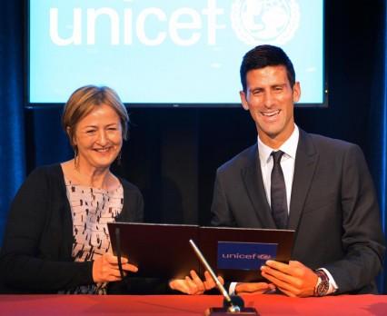 Novak Djokovic nowym Ambasadorem Dobrej Woli UNICEF