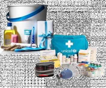 UNICEF Polska - zestaw higieniczny dla 5-osobowej rodziny i zestaw pierwszej pomocy